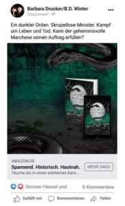 Facebook-Werbung zu »Das Gift der Schlange«