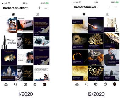 Instagram im Jahrsvergleich