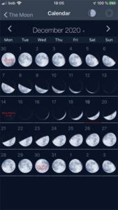 Mondkalender auf dem iPhone