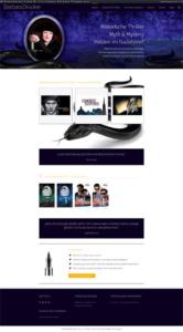 Startseite meiner Autorenwebsite im Dezember 2020